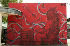 Τέχνη γκράφιτι Στοκ Φωτογραφίες