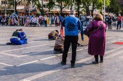 Τέχνη εβδομάδας συνειδητοποίησης ανικανότητας και λαϊκό γεγονός χορού - Τουρκία Στοκ εικόνες με δικαίωμα ελεύθερης χρήσης