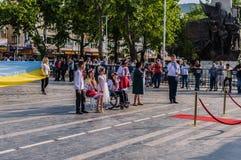 Τέχνη εβδομάδας συνειδητοποίησης ανικανότητας και λαϊκό γεγονός χορού - Τουρκία Στοκ εικόνα με δικαίωμα ελεύθερης χρήσης