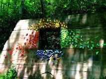 Τέχνη εγκαταστάσεων πεταλούδων Origami Στοκ Φωτογραφίες