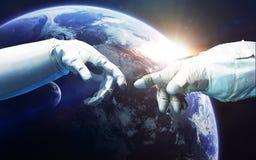 Τέχνη επιστημονικής φαντασίας Ομορφιά του βαθιού διαστήματος Στοιχεία αυτής της εικόνας που εφοδιάζεται από τη NASA Στοκ Φωτογραφία