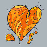 Τέχνη καρδιών Στοκ φωτογραφία με δικαίωμα ελεύθερης χρήσης