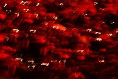 τέχνη μοντέρνα Τα φω'τα των μακριών οδηγήσεων έκθεσης θολώνουν το μαύρο υπόβαθρο Στοκ Φωτογραφία