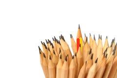Τέχνη μολυβιών στην άσπρη ηγεσία ιδέας έννοιας υποβάθρου Στοκ Εικόνα