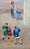 Τέχνη Μόντρεαλ οδών Στοκ Εικόνες
