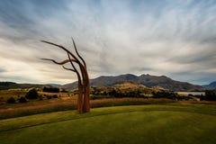 Τέχνη Νέα Ζηλανδία γηπέδων του γκολφ Arrowtown Στοκ φωτογραφίες με δικαίωμα ελεύθερης χρήσης