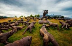 Τέχνη Νέα Ζηλανδία γηπέδων του γκολφ Arrowtown Στοκ Εικόνα