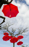 Τέχνη ομπρελών Στοκ φωτογραφία με δικαίωμα ελεύθερης χρήσης