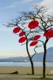 Τέχνη ομπρελών Στοκ εικόνες με δικαίωμα ελεύθερης χρήσης