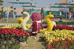 Τέχνη λουλουδιών - χταπόδι στοκ εικόνες