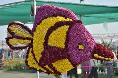 Τέχνη λουλουδιών - ψάρια στοκ εικόνες