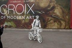 Τέχνη οδών ή οπτική παραίσθηση Στοκ Φωτογραφίες