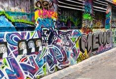 Τέχνη οδών - πάροδος Hosier Μελβούρνη - Αυστραλία Στοκ Εικόνες