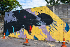 Τέχνη οδών σε Sukhumvit 32 στοκ φωτογραφία με δικαίωμα ελεύθερης χρήσης