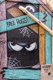 Τέχνη οδών στο Παρίσι, Γαλλία Στοκ φωτογραφίες με δικαίωμα ελεύθερης χρήσης