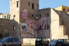 Τέχνη οδών στο Παλέρμο, Ιταλία Στοκ Εικόνες