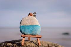 Τέχνη-πίνακας στην ακτή Στοκ Φωτογραφίες