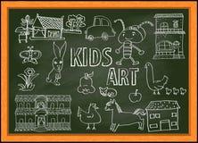 Τέχνη παιδιών ` s, doodle διανυσματική απεικόνιση Στοκ φωτογραφία με δικαίωμα ελεύθερης χρήσης