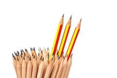 Τέχνη περίπτωσης μολυβιών που απομονώνεται στον άσπρο μόλυβδο ιδέας έννοιας υποβάθρου Στοκ Φωτογραφίες