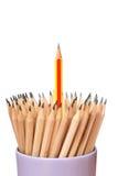 Τέχνη περίπτωσης μολυβιών στην άσπρη ιδέα έννοιας υποβάθρου Στοκ φωτογραφίες με δικαίωμα ελεύθερης χρήσης