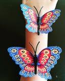 Τέχνη πεταλούδων Στοκ φωτογραφίες με δικαίωμα ελεύθερης χρήσης