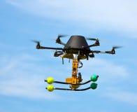 τέχνη που πετά τέσσερις μηχανές Στοκ Φωτογραφία