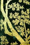 τέχνη που χρωματίζει ταϊλανδικό παραδοσιακό ύφους Στοκ Εικόνες