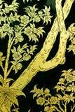 τέχνη που χρωματίζει ταϊλανδικό παραδοσιακό ύφους Στοκ φωτογραφίες με δικαίωμα ελεύθερης χρήσης