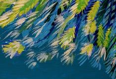 Τέχνη που χρωματίζει την αφηρημένη συστάσεων ταπετσαρία χρωμάτων πετρελαίου ακρυλική διανυσματική απεικόνιση