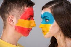 Τέχνη προσώπου Σημαίες Στοκ φωτογραφίες με δικαίωμα ελεύθερης χρήσης