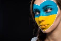 Τέχνη προσώπου Σημαίες Στοκ εικόνες με δικαίωμα ελεύθερης χρήσης