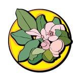 Τέχνη συνδετήρων λουλουδιών της Apple κίτρινη Στοκ Εικόνα