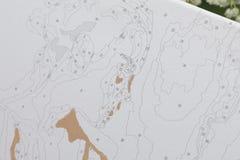τέχνη Σχεδιασμός από τους αριθμούς Στοκ Εικόνα