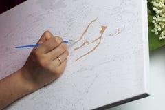 τέχνη Σχεδιασμός από τους αριθμούς Στοκ εικόνα με δικαίωμα ελεύθερης χρήσης