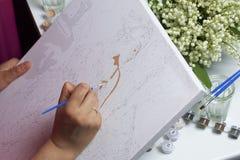 τέχνη Σχεδιασμός από τους αριθμούς Στοκ εικόνες με δικαίωμα ελεύθερης χρήσης