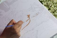 τέχνη Σχεδιασμός από τους αριθμούς Στοκ Φωτογραφία