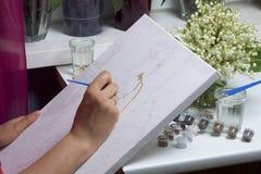 τέχνη Σχεδιασμός από τους αριθμούς Στοκ Εικόνες