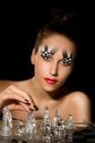 Τέχνη σύνθεσης υπό μορφή σκακιέρας Στοκ φωτογραφία με δικαίωμα ελεύθερης χρήσης