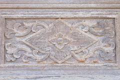 Τέχνη της γλυπτικής στον ξύλινο τοίχο Στοκ φωτογραφία με δικαίωμα ελεύθερης χρήσης