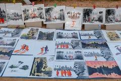 Τέχνη της ζωγραφικής Angkor Wat στοκ φωτογραφίες με δικαίωμα ελεύθερης χρήσης