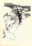 Τέχνη της τέχνης γραμμών - γυμνή γυναίκα Στοκ Εικόνες