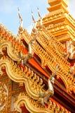 Τέχνη του Λάος στην εκκλησία στεγών στο ναό του Λάος. Στοκ φωτογραφία με δικαίωμα ελεύθερης χρήσης