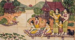 Τέχνη του ταϊλανδικού πολιτισμού Στοκ φωτογραφίες με δικαίωμα ελεύθερης χρήσης