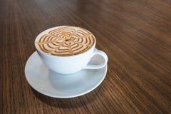 Τέχνη φλιτζανιών του καφέ latte Στοκ Φωτογραφίες