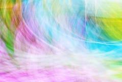 Τέχνη φωτογραφιών, φωτεινό ζωηρόχρωμο αφηρημένο υπόβαθρο ελαφριών ραβδώσεων Στοκ Φωτογραφία