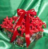 Τέχνη δώρων Χριστουγέννων diy Στοκ εικόνα με δικαίωμα ελεύθερης χρήσης