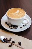 Τέχνη Caffee latte Στοκ εικόνα με δικαίωμα ελεύθερης χρήσης