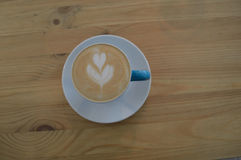 Τέχνη Coffe latte στοκ φωτογραφίες με δικαίωμα ελεύθερης χρήσης