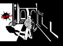 Τέχνη comics ρουζ Chapeau Στοκ εικόνα με δικαίωμα ελεύθερης χρήσης