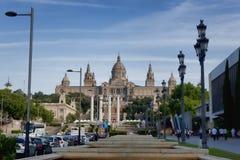 Τέχνη de Catalunya Nacional δ ` Museu - το μουσείο είναι πρέπει-βλέπει για την τέχνη Στοκ Εικόνες